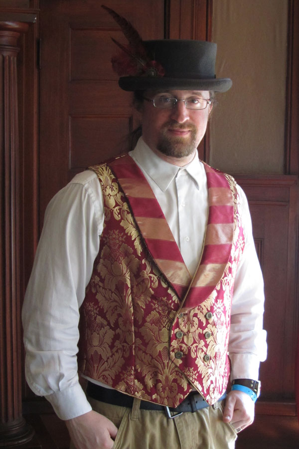 Mens Double Breasted Button Steampunk Vest