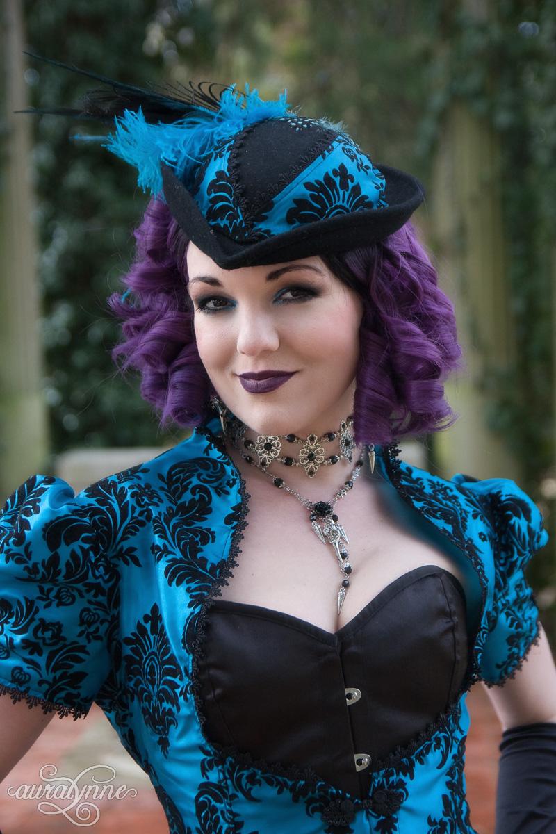 Cerulean Dreams Gothic Wedding Dress | Auralynne.com
