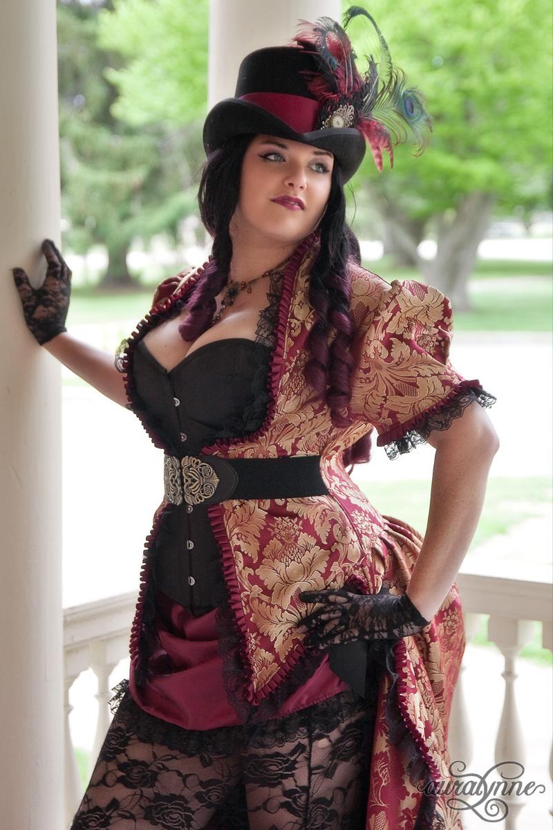 307b525f33c Steampunk Siren Gothic Wedding Dress