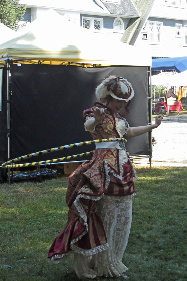 Yes, it is possible to Hula Hoop in a Steampunk Ballgown