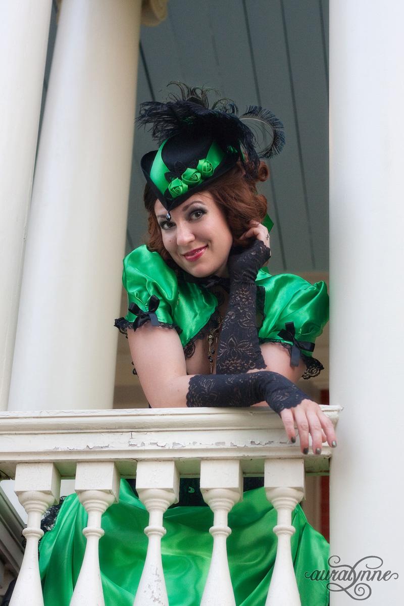 Green Victorian Gothic Dress