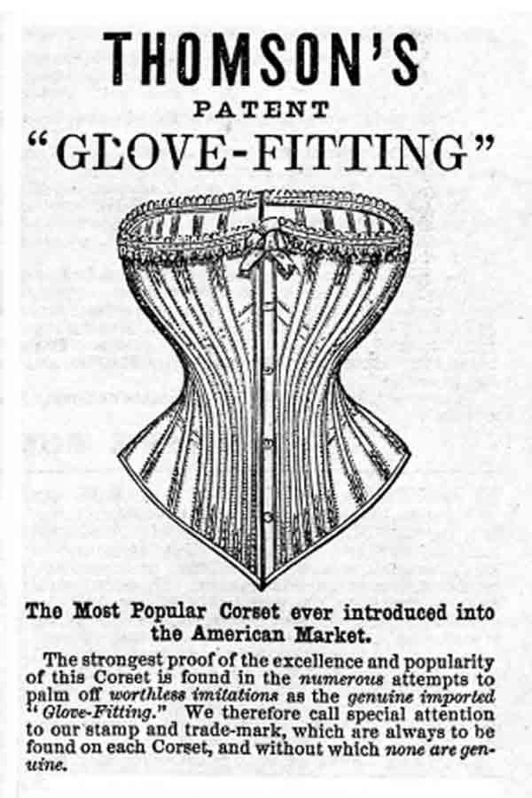 Thomsons corset ad, 1870