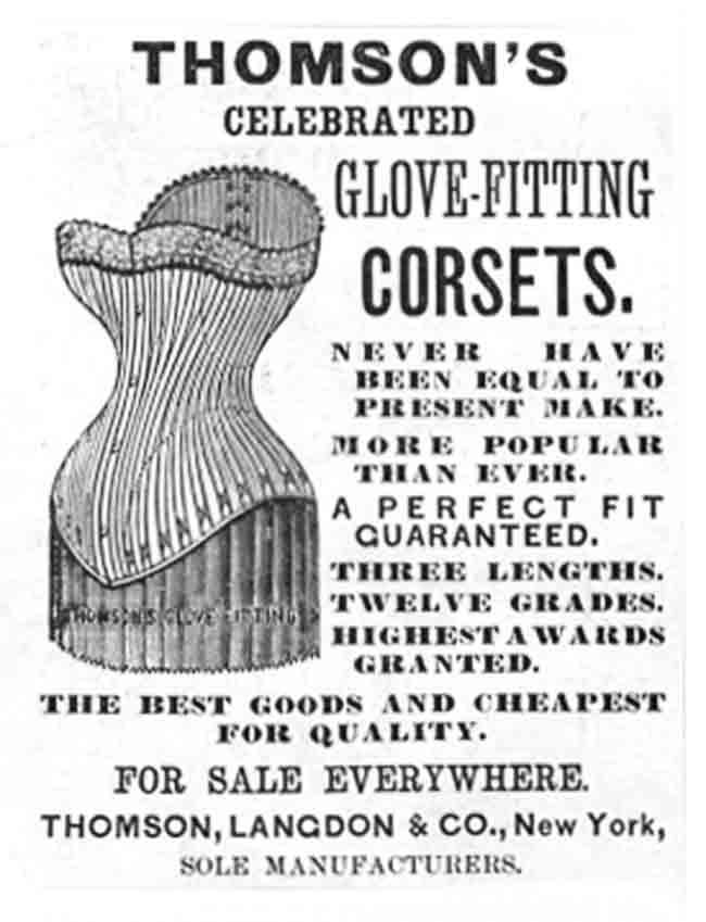 Thomsons corset ad, 1888