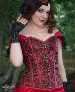Lady in Red Pirate Corset