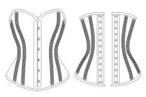 Double Steel Boned Corset