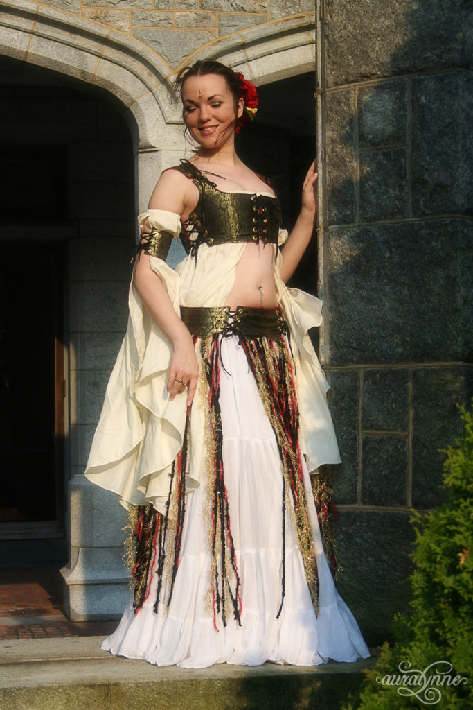 Gold Renaissance Belly Dance Costume