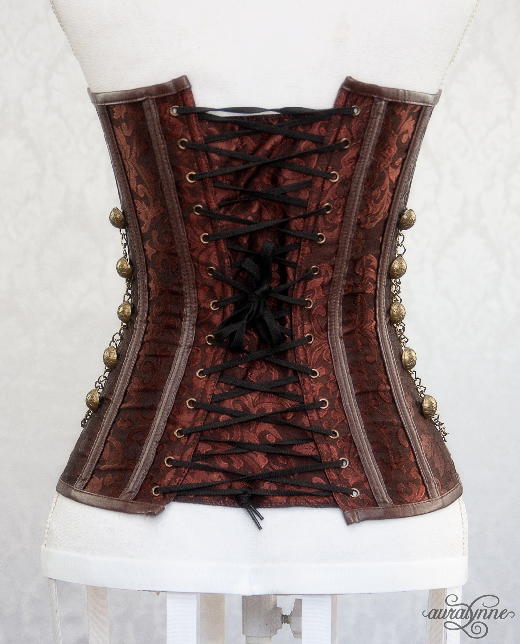 Brown Steampunk Corset Back View