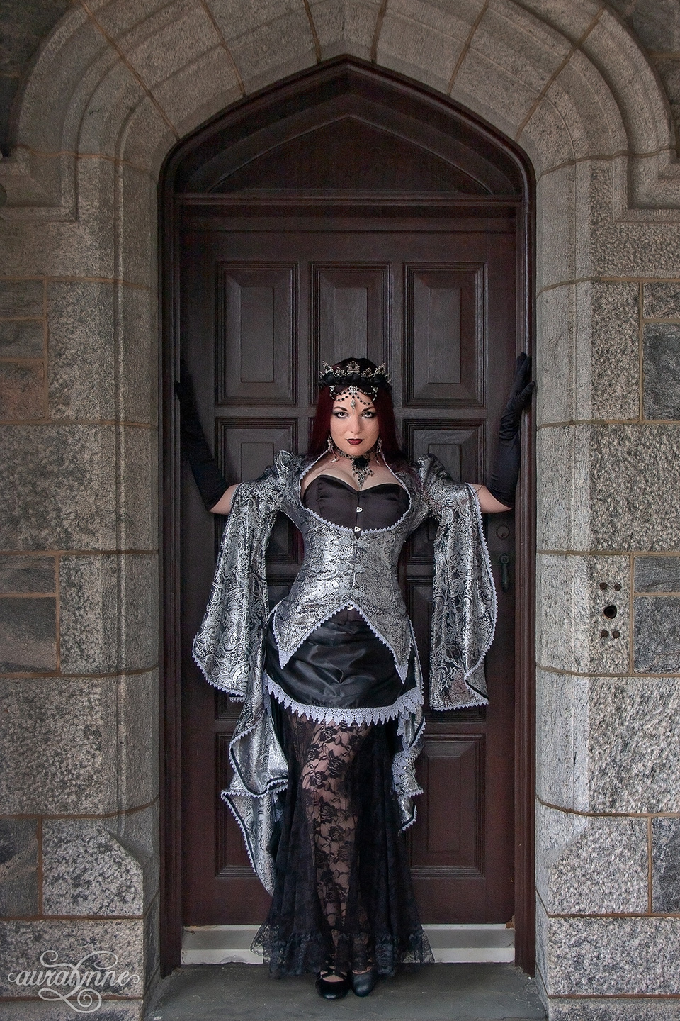 Black and silver queen costume