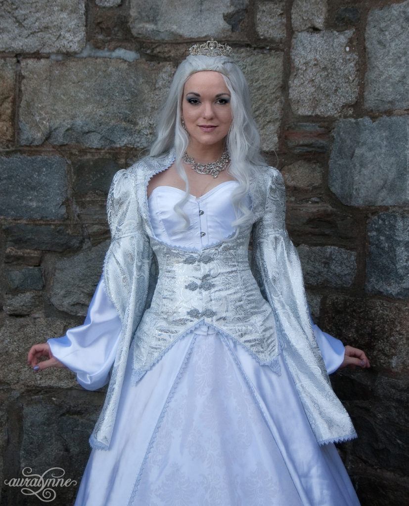 White Fantasy Queen Costume Bodice
