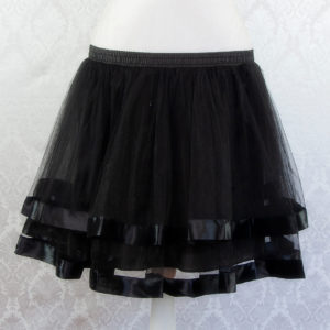 Black Ribbon Petticoat Front