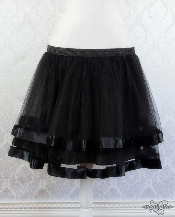 Black Ribbon Petticoat Front