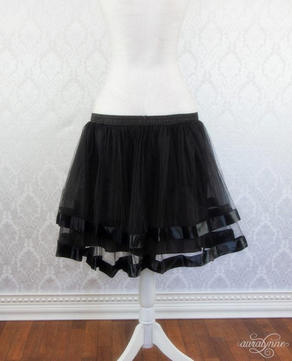 Black Ribbon Petticoat Back