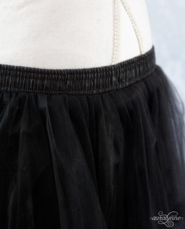 Black Ribbon Petticoat Waistband