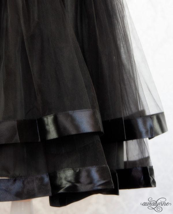 Black Ribbon Petticoat Hem