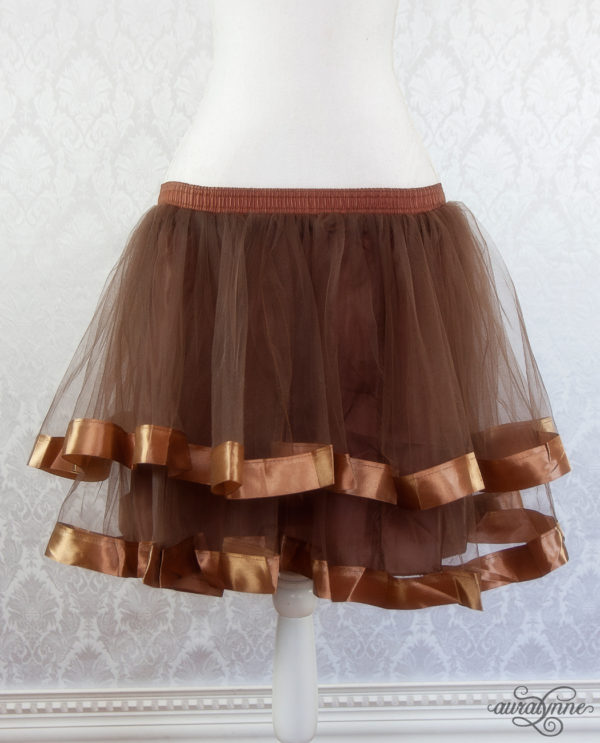 Brown Ribbon Petticoat Front