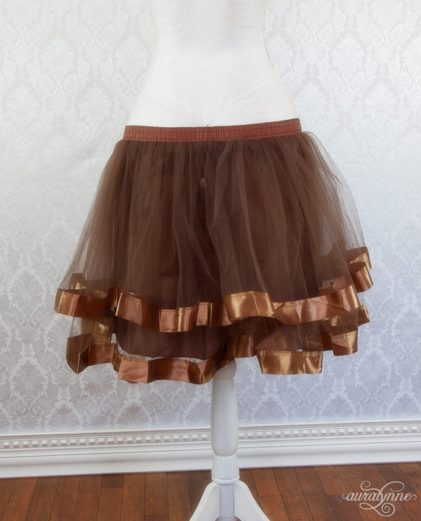 Brown Ribbon Petticoat Back