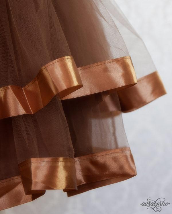 Brown Ribbon Petticoat Hem