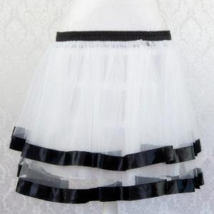White Ribbon Petticoat Front