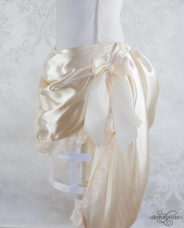 Ivory Bustle Skirt Side