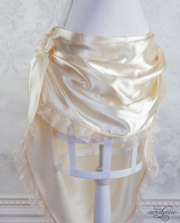 Ivory Bustle Skirt Front
