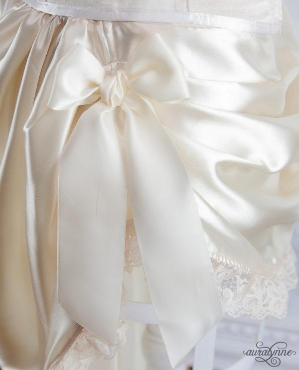 Ivory Bustle Skirt Closeup