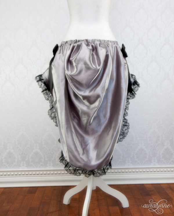 Silver Bustle Skirt Back