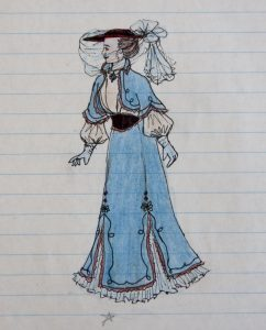Victorian Traveling Gown