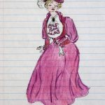 Burgundy Edwardian Gown