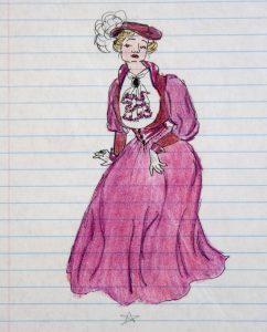 Burgundy Edwardian Gown