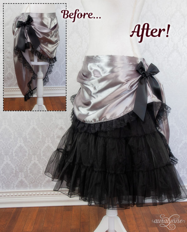 Black Petticoat Before and After