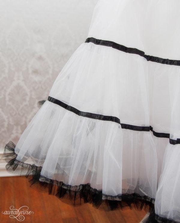 Striped Petticoat Closeup