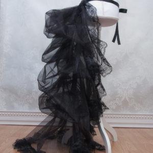 Black Bustle Petticoat