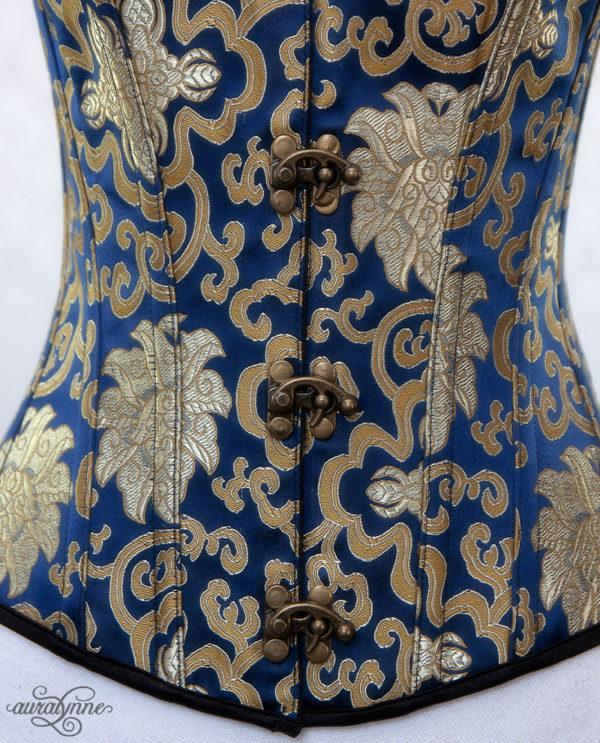 Blue Steampunk Corset Closeup