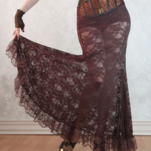 Brown Lace Mermaid Skirt