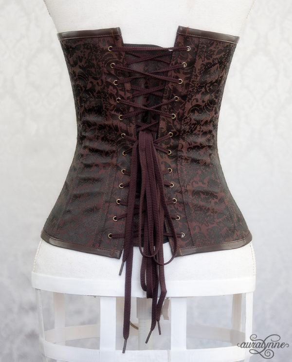 Brown Steampunk Corset Back