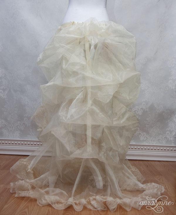 Victorian Bustle Petticoat Back