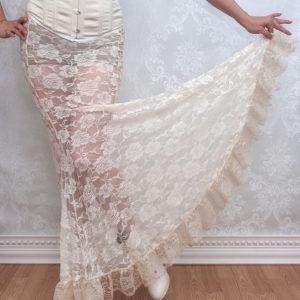 Ivory lace mermaid skirt
