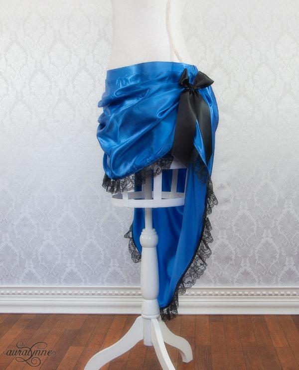 Blue Bustle Skirt Side