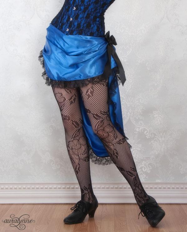 Blue Bustle Skirt Modeled