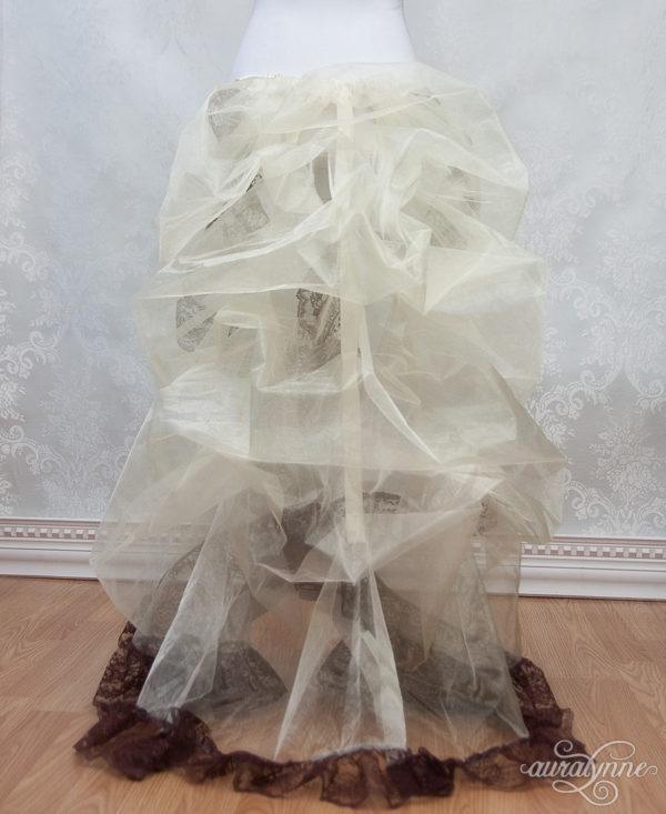 Steampunk Bustle Petticoat Back