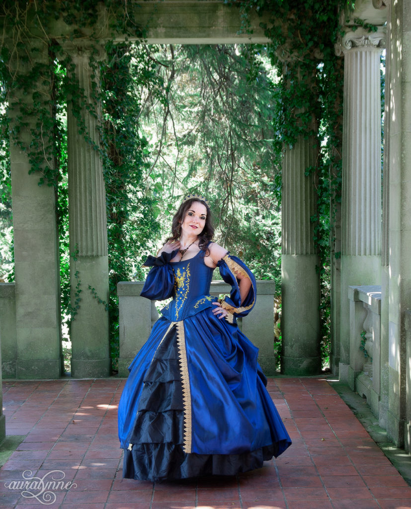 Blue Tudor Inspired Gown Full