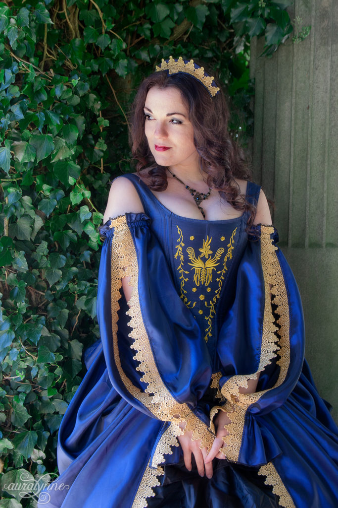 Blue Tudor Inspired Gown Sleeves