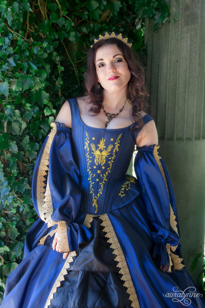 Blue Tudor Inspired Gown