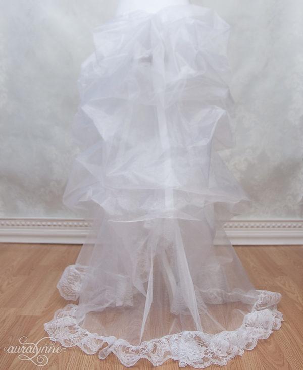 White Bustle Petticoat Back