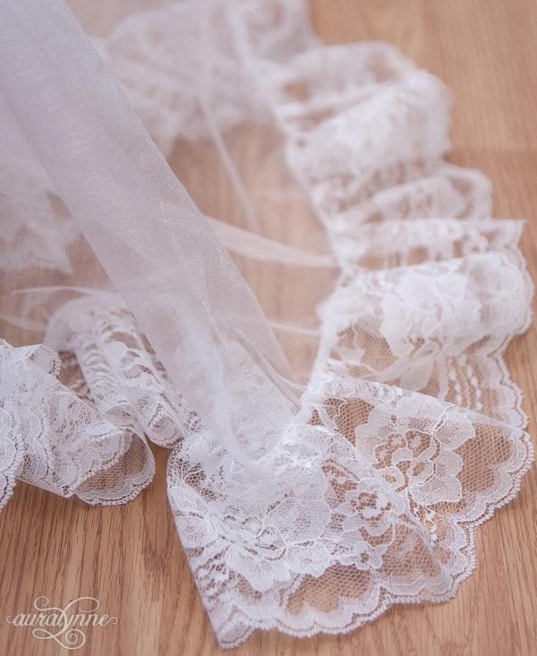 White Bustle Petticoat Closeup