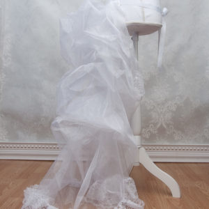 White Bustle Petticoat Side