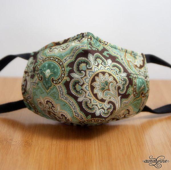 boho floral fabric mask