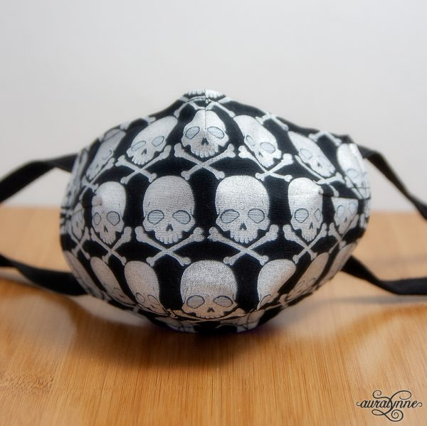pirate skulls fabric mask